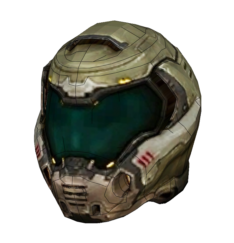 Doom Slayer Praetor Helmet Foam Cosplay Pepakura File Template