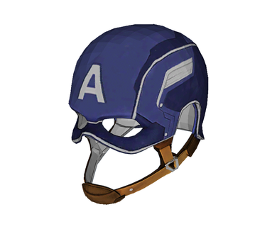 Captain America Helmet Cosplay Foam Pepakura File Template