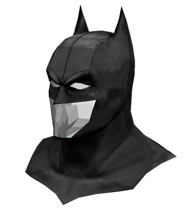 Batman Cowl FOAM Cosplay Pepakura File Template