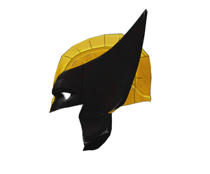 X-Men - Wolverine Cosplay Mask FOAM Pepakura File Template