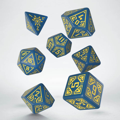 ARCADE: BLUE AND YELLOW DICE SET