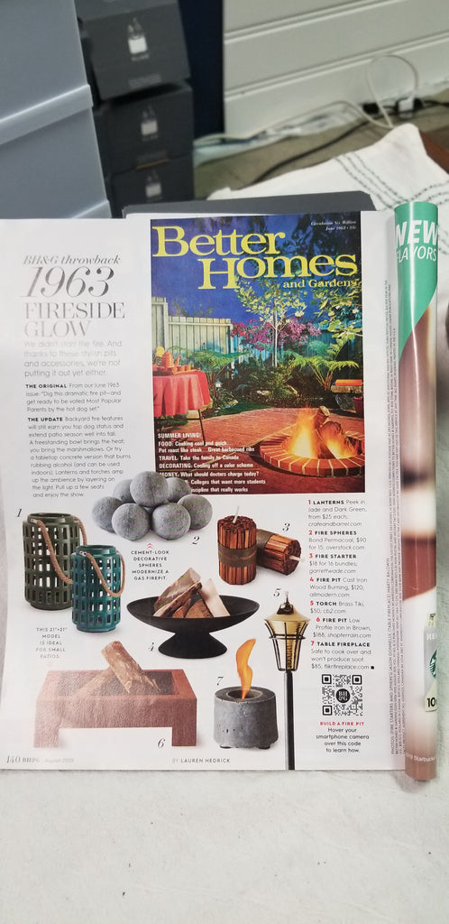 FLIKR Fireplace in Better Homes & Gardens
