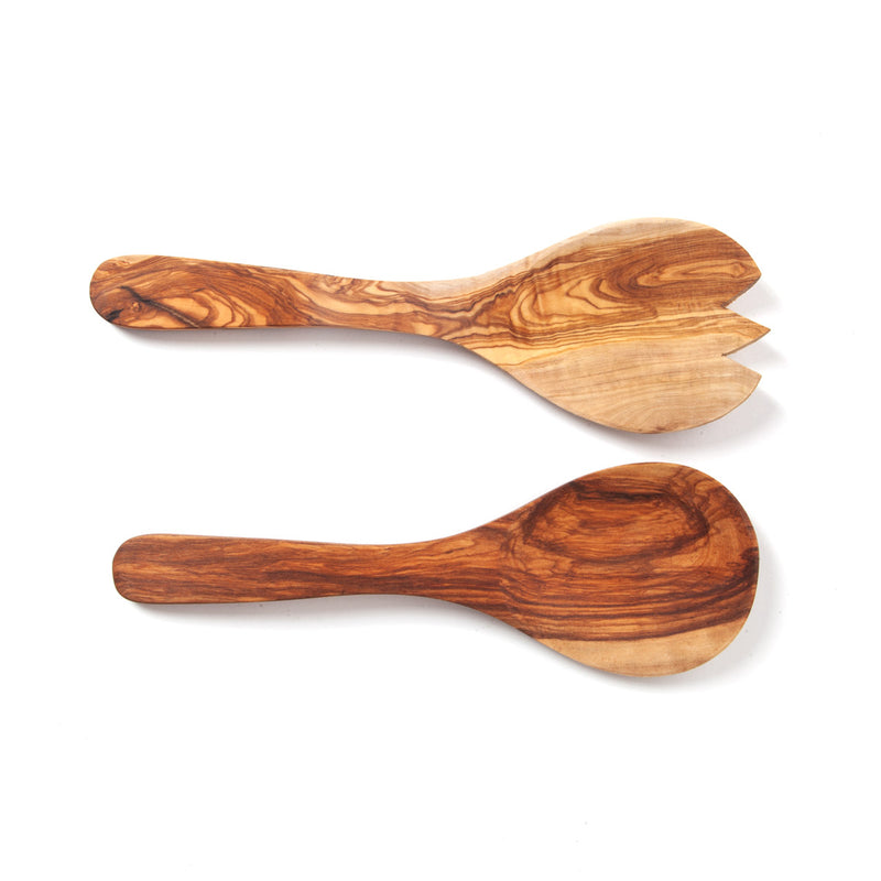 Nardelli Olive Wood Salad Servers - 2pc Set