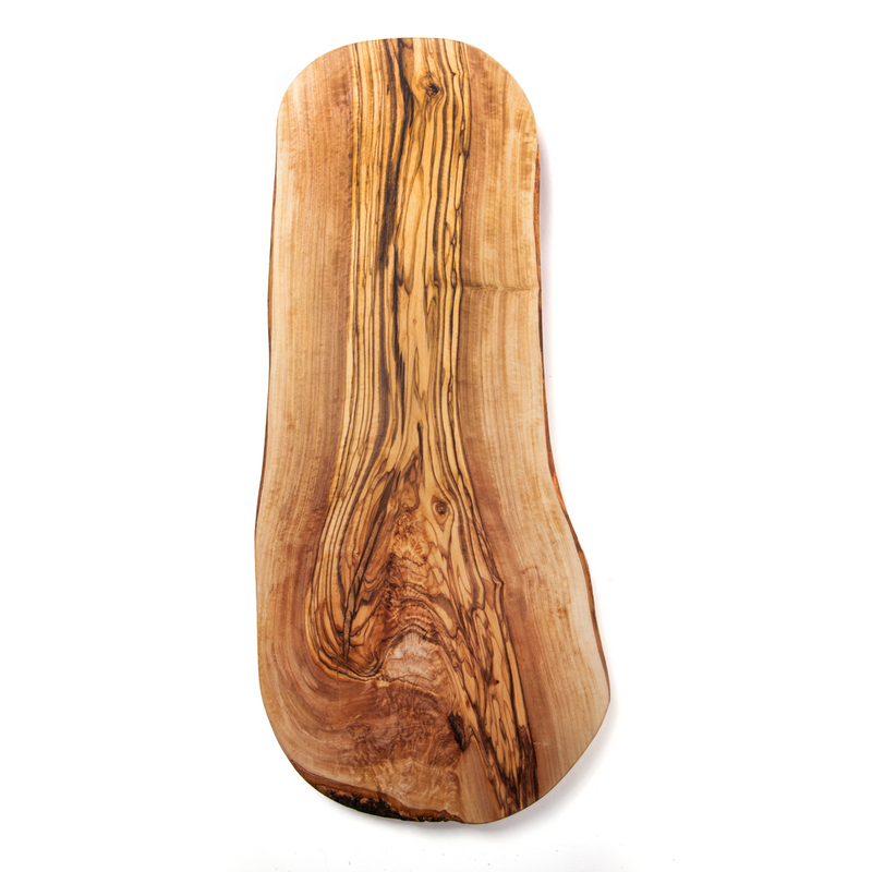 Nardelli Rustic Olive Wood Cutting Boards with Olive Wood Tree Bark Sided