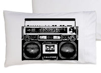 1980's retro boombox pillowcase
