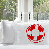 Red Life Saver Nautical Pillowcase pillow cover ocean sea week