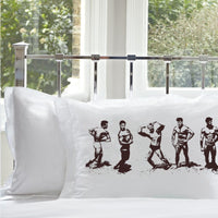 Brown Muscle Beach Nautical Standard Pillowcase Pillow Cover Case