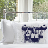 Navy Blue Nautical Buoys White Standard Pillowcase pillow cover bedding