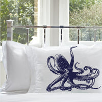 Navy Blue Octopus Pillowcases Ocean Beach Nautical Pillowcase pillow cover