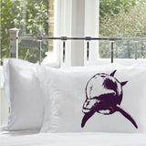 Purple Bottle Nose Dolphin White Nautical Pillowcase pillow cover ocean sea