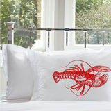 Lobster White Nautical Pillowcase pillow cover print color Red