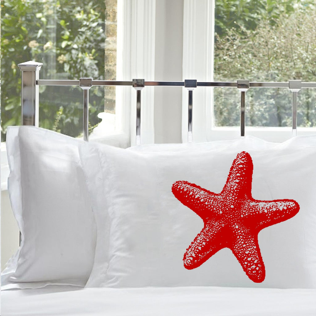 Red Starfish star fish Nautical Pillowcase pillow cover ocean sea week