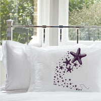 Purple Shooting Starfish star fish Nautical Pillowcase pillow cover ocean sea week