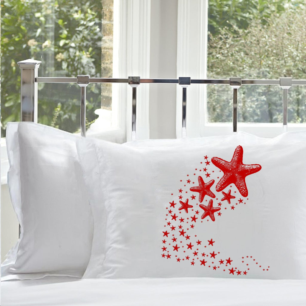 Red Shooting Starfish star fish Nautical Pillowcase pillow cover ocean sea week