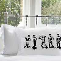 Black Muscle Beach Nautical Standard Pillowcase Pillow Cover Case