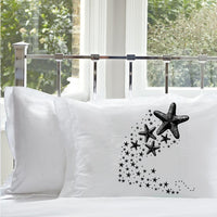 Black Shooting Starfish star fish Nautical Pillowcase pillow cover ocean sea week
