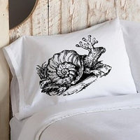 Black Royal Snail Standard Pillowcase