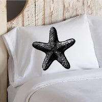 Black Starfish star fish White Nautical Pillowcase pillow cover