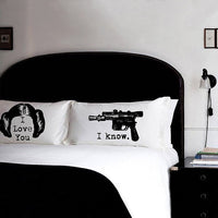 star wars leia solo i love you I know line pillowcase set