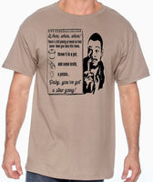 carl weathers arrested developement mens tee shirt tan