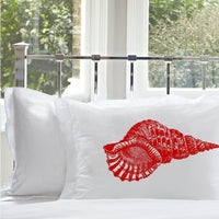 Red Conch Shell Nautical Pillowcase pillow cover ocean sea week