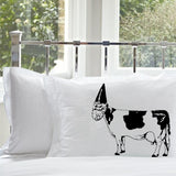 Gnome Cow pillowcase