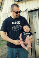 2 shirts funny CHIP off the old BLOCK ™ Father Son combo