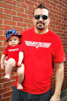 2 Red shirts | Father Son Matching Shirts | Maverick And Goose | Father Son combo