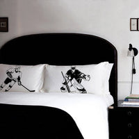 Pillow Fighting Set of HOCKEY pillowcases