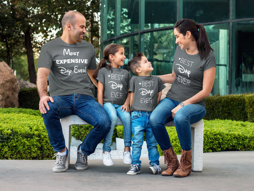 Most Expensive Day Ever, Disney Best Day Ever, Disney, Gray, men's shirt, Disney Family Shirts, Disney Group, funny Disney Family Shirts, vacation