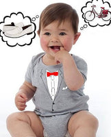 Funny baby Peewee style suit tuxedo newborn 6 12 18 big Movie pee wee bowtie child herman inspired gray outfit Shirt gift tshirt boy fan NEW