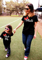 Minnie and Minnie Me Mother Daughter Shirt Combo
