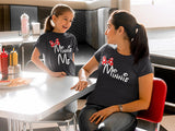 2 Shirts- disney fan Mommy and Me Minnie Shirt Combo Set
