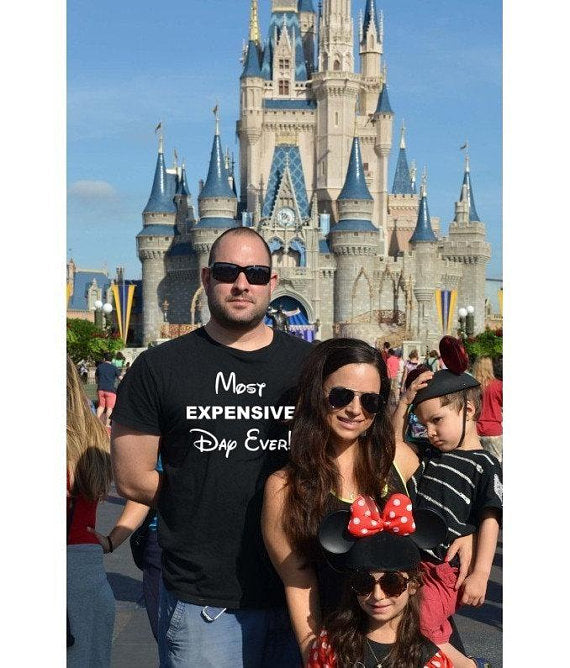 Most Expensive Day Ever, Disney Best Day Ever, I don't do matching Shirts Matching T shirt, Disney Family T-shirts, Couples T-shirts, men's