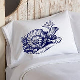 Navy Snail Standard Pillowcase