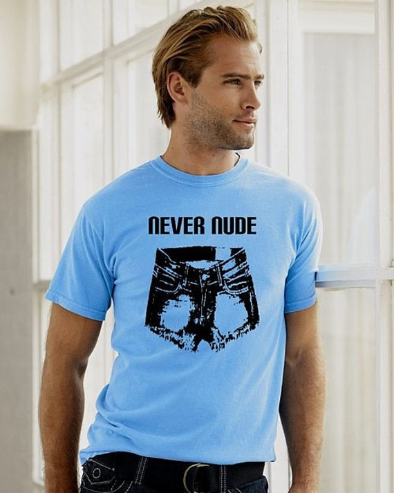 Arrested Development Light Blue never Nude tee shirt tshirt funny man men Tobias Funke Bluth TV comedy show