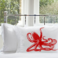 Red Octopus Nautical Animal Pillowcase Pillow Case Cover