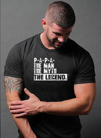 Fathers Day Gift Papa The Man The Myth The Legend T Shirt Husband Tshirt Dad Shirt