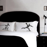 Pillow Fighting Set of BASEBALL Batter vs Fielder pillowcases