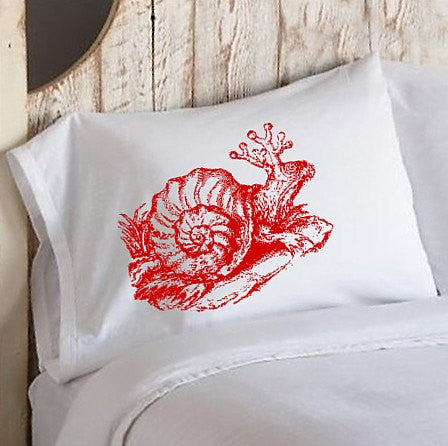 Red Snail Standard Pillowcase