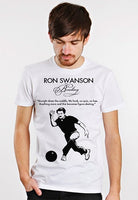 ron swanson funny quote bowling figure skating mens tee shirt