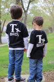 T Birds child boys black shirt Greaster tee Tshirt sock hop