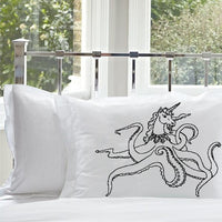Black Unipus Octohorn Unicorn Octopus funny Nautical pillowcase standard size