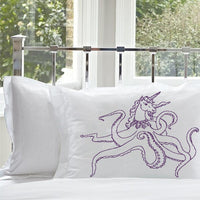 Purple Unipus Octohorn Unicorn Octopus funny Nautical Pillowcase standard size