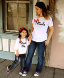 2 Shirts- disney fan Mommy and Me Minnie White Shirt Combo Set