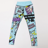 Harajuku Cartoon Pop Art Racerback Elastic High Waist Sportswear