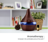Vintage Jar Design Wood Grain Ultrasonic Cool Mist Air Humidifier