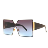 Vintage Gradient Resin Lens Oversized Square Sunglasses