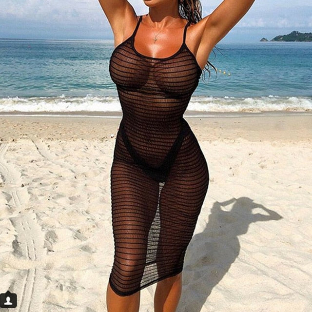 Fishnet Lace Mesh Crochet Hollow Out Cover Up