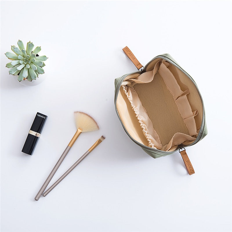 Pillow Shaped Make Up Brushes Protector Rolling Pouch Portable Makeup Bag